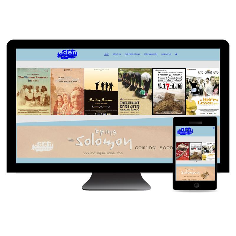 עיצוב ובניית אתר לחברת הפקות סרטים